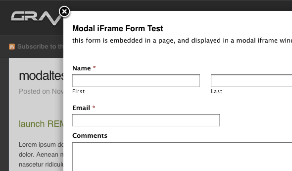 WordPress Form Modals with Gravity Forms and Fancybox