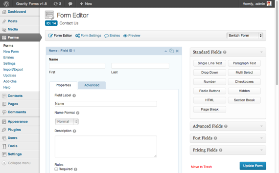 Gravity Forms v1.8 Released   Gravity Forms  Gravity Forms