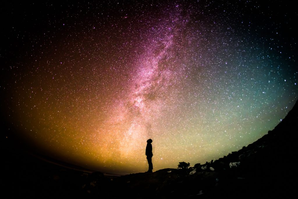 Person looking at stars section header