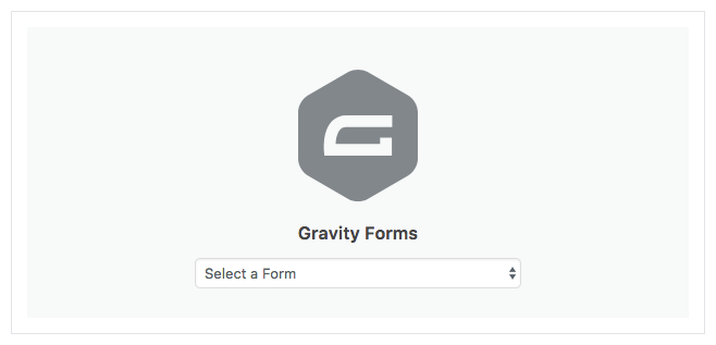 Default state of Gravity Forms block